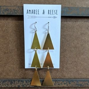 Amaree & Reese Jewelry - Amaree & Reese raw brass handmade earrings.